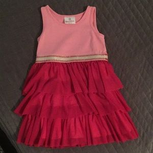 Hanna Andersson Dress in pink & magenta SZ 100/4